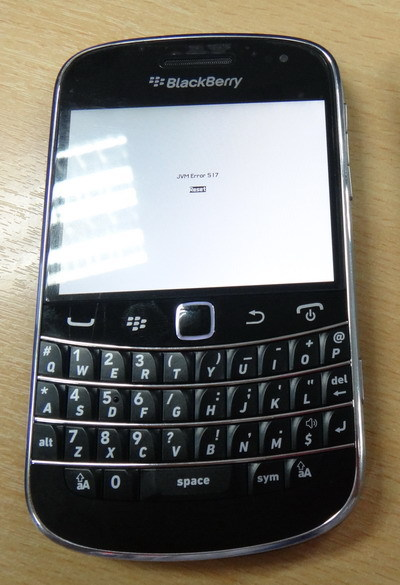 How to fix / repair a corrupt, nuked or crashed Blackberry Operating System Software (OS).
